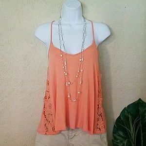 Tops - Lace cutout swing top